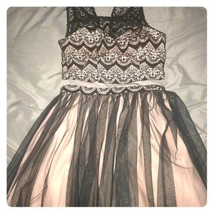 Two-piece homecoming dress